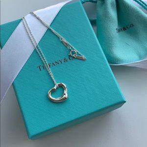 New Tffiany's Elsa Peretti Heart Necklace in S/S